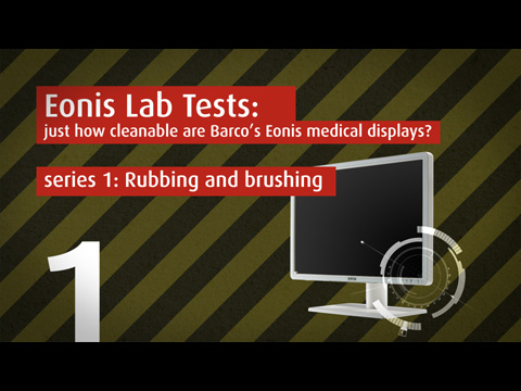 Just how cleanable are Barco's Eonis medical (clinical and dental) displays? Lab test video