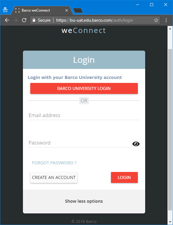 knowledge base weconnect how to log in to the application