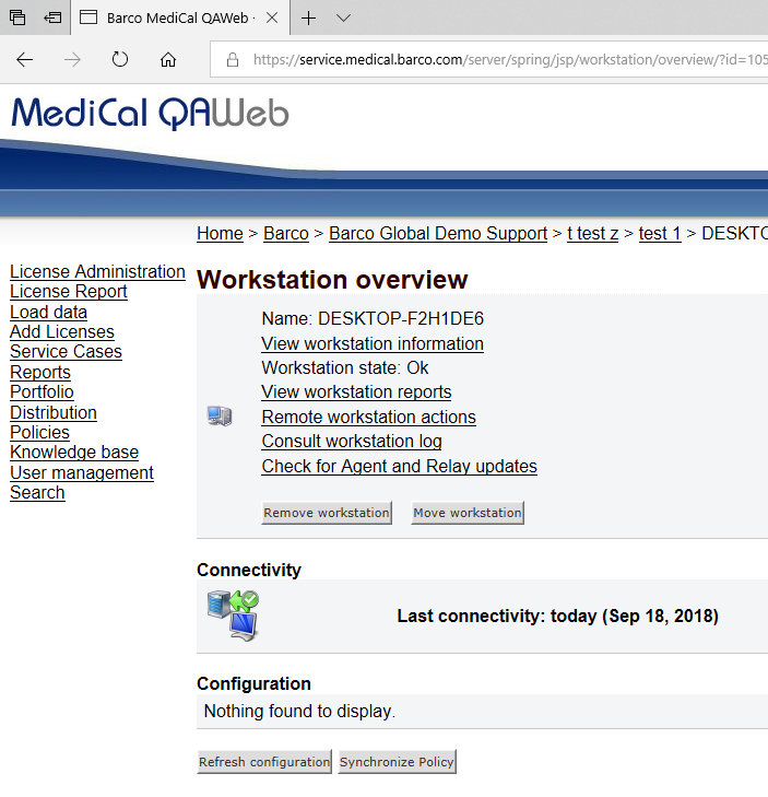MediCal QAWeb - Knowledge Base - My Barco clinical or diagnostic