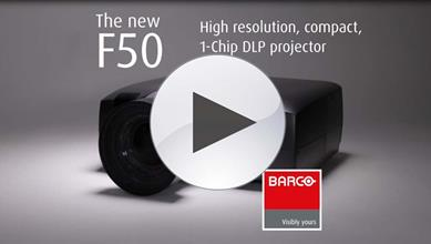 F50 projector product video