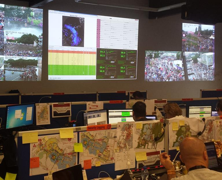 Mobile, networked visualization system helps keep festival-goers safe