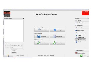 Service and install tool for Barco's digital cinema