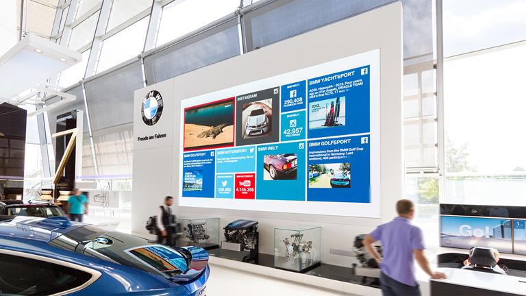 Premium automotive manufacturer goes bold and bright with Barco modular LED displays